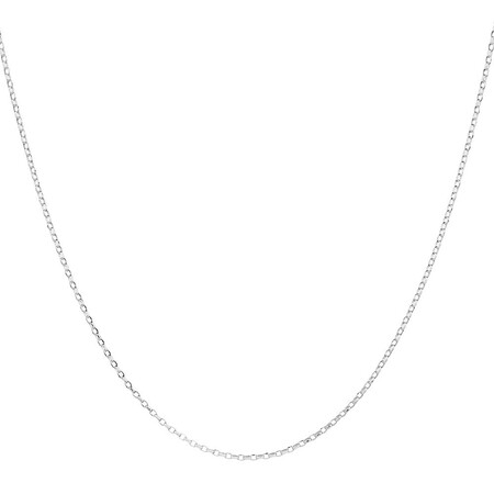 """50cm (20"""") Hollow Rolo Chain in 10kt White Gold"""