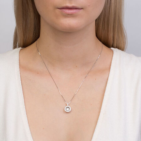 Everlight Pendant with 3/4 Carat TW of Diamonds in 14kt White Gold