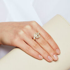 Ring with 0.88 Carat TW of Diamonds in 10kt Yellow Gold