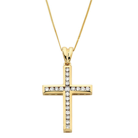 Pendant with 1/2 Carat TW of Diamonds in 10kt Yellow Gold