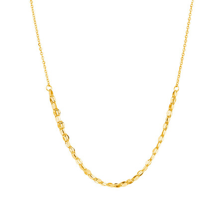 Adjustable Choker Necklace in 10kt Yellow Gold