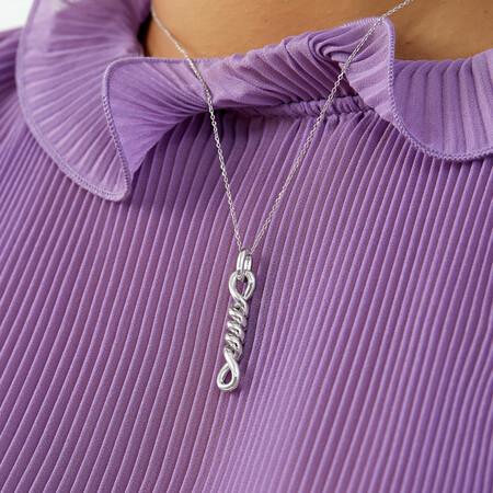 Twist Loop Pendant In Sterling Silver