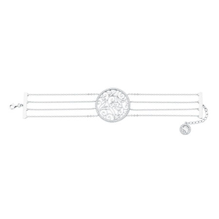 "19cm (7.5"") Bracelet with Cubic Zirconias in Sterling Silver"