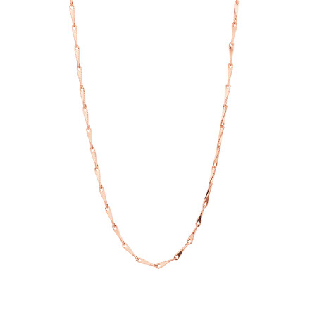 """45cm (18"""") Infinity Chain in 10kt Rose Gold"""