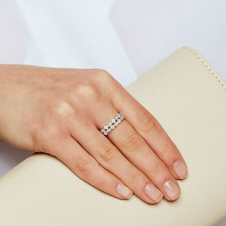 Ring with 0.65 Carat TW of Diamonds in 10kt White Gold