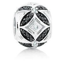 1/4 Carat TW White & Enhanced Black Diamond Marrakesh Charm