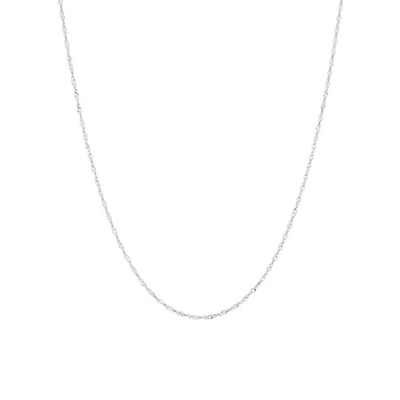"40cm (16"") Singapore Chain in 14kt White Gold"