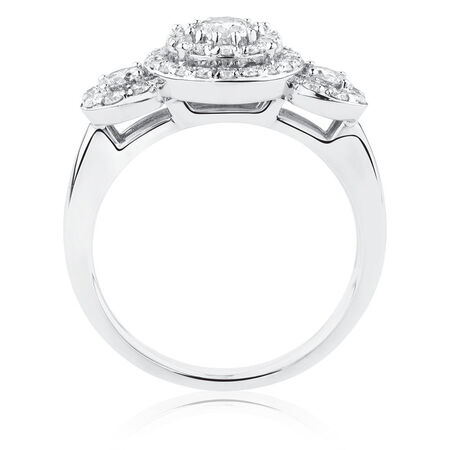 Engagement Ring with 1 Carat TW of Diamonds in 10kt White Gold