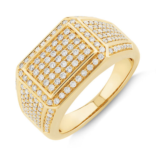 Men's Ring with 2 Carat TW of Diamonds In 10kt Yellow Gold