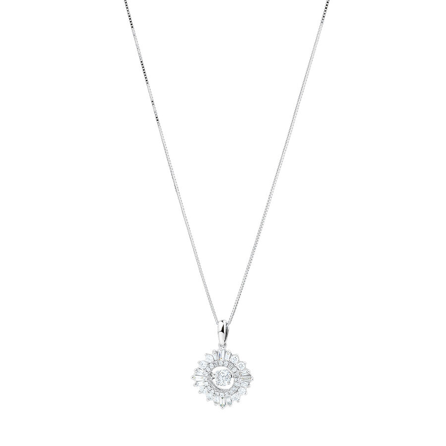 Everlight Pendant with 0.50 Carat TW Of Diamonds in 10kt White Gold