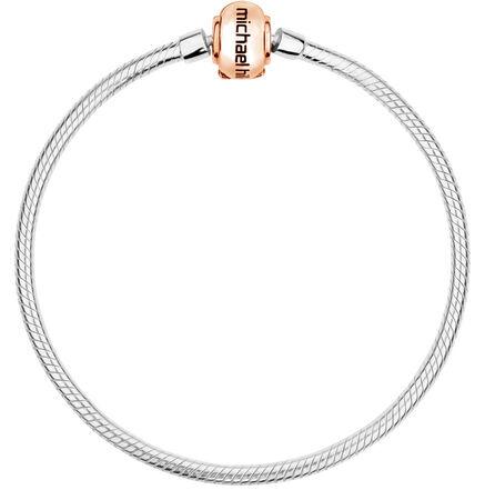 """10kt Rose Gold & Sterling Silver 19cm (7.5"""") Charm Bracelet"""