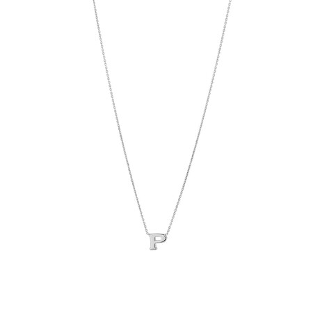 'P' Initial Necklace in Sterling Silver