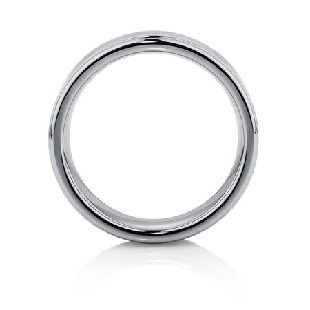 Men's Ring in Carbon Fibre & Grey Tungsten