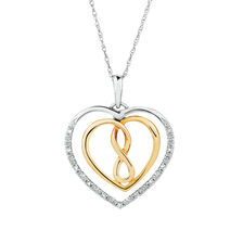 Infinitas Pendant with Diamonds in 10kt Yellow Gold & Sterling Silver