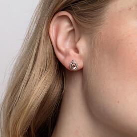 Earrings with Morganite & Diamonds in 10kt Rose Gold