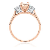 Ring with Morganite & 0.40 Carat TW of Diamonds in 10kt Rose Gold