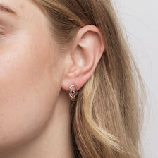 Knots Earrings in Sterling Silver & 10kt Rose Gold