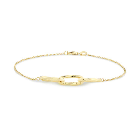 Link Bracelet in 10kt Yellow Gold