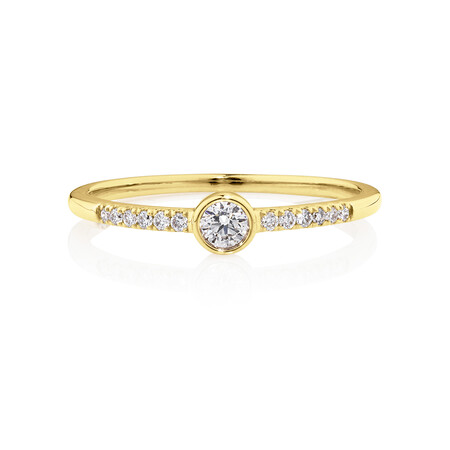 Promise Ring with 0.16 Carat TW of Diamonds in 10kt Yellow Gold