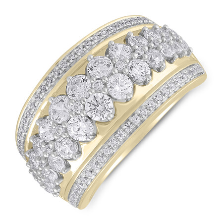 Ring with 1.50 Carat TW of Diamonds in 10kt Yellow Gold
