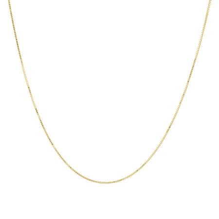 "45cm (18"") Diamond Cut Box Chain in 14kt Yellow Gold"