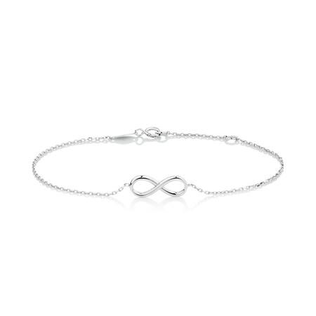 Infinity Bracelet in 10kt White Gold