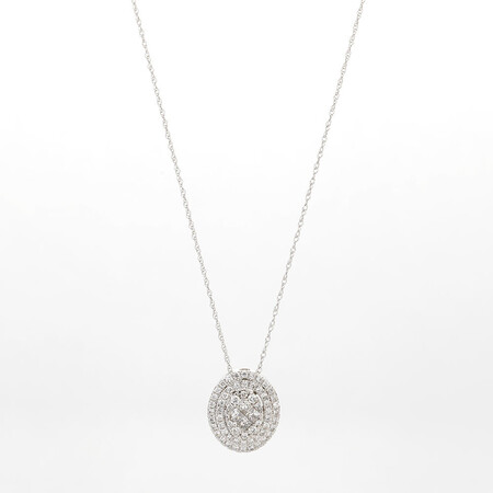 Online Exclusive - Cluster Pendant with 0.60 Carat TW of Diamonds in 14kt White Gold