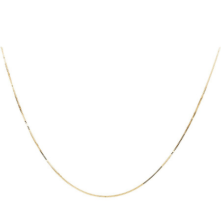 """70cm (28"""") Box Chain in 10kt Yellow Gold"""