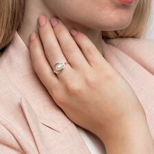 Ring with a Cultured Freshwater Pearl in Sterling Silver
