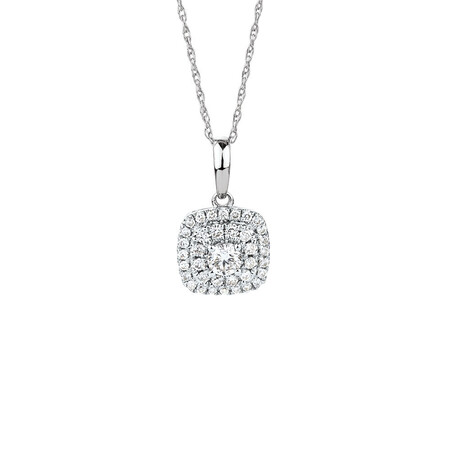 Pendant with 0.304 Carat TW of Diamonds in 10kt White Gold