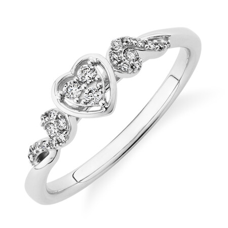 Evermore Promise Ring with 0.14 Carat TW of Diamonds in 10kt White Gold