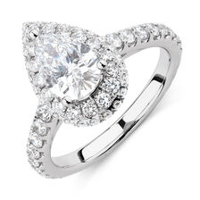 Michael Hill Designer GrandAllegro Engagement Ring with 2.08 Carat TW of Diamonds in 14kt White & Rose Gold