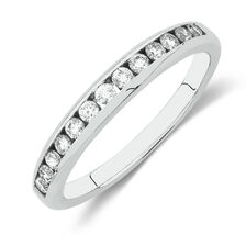 Online Exclusive - Wedding Band with 0.33 Carat TW of Diamonds in 18kt White Gold
