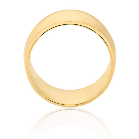 Barrel Ring in 10kt Yellow Gold