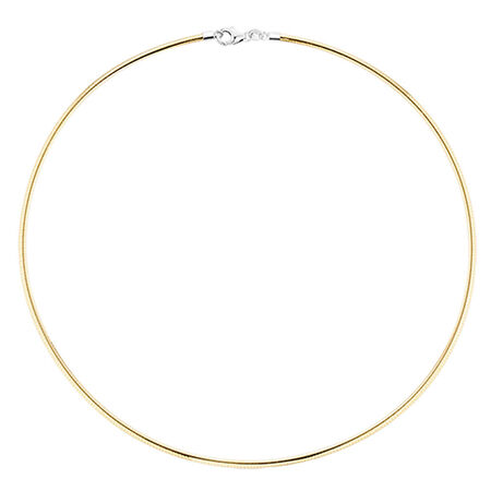 "45cm (18"") Solid Chain in 10kt Yellow & White Gold"
