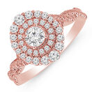 Ring with 1.00 Carat TW of Diamonds in 10kt Rose Gold