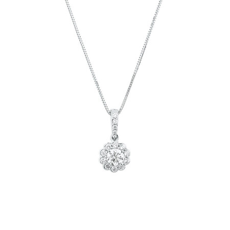 Southern Star Pendant with 0.38 Carat TW of Diamonds in 14kt White Gold