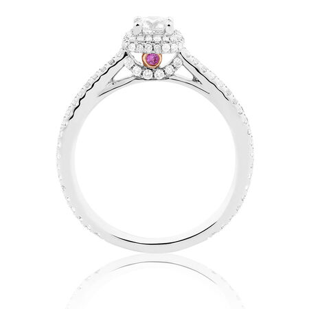 Sir Michael Hill Designer GrandAllegro Engagement Ring with 0.72 Carat TW of Diamonds in 14kt White Gold