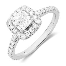 Sir Michael Hill Designer GrandAllegro Engagement Ring with 1.95 Carat TW of Diamonds in 14kt White Gold