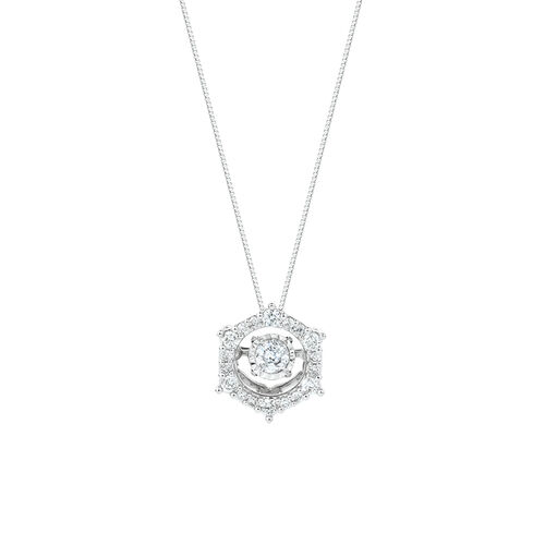 Everlight Pendant with 1/3 Carat TW of Diamonds in 10kt White Gold