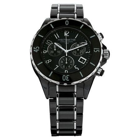 Unisex Watch in Black Ceramic & Stainless Steel
