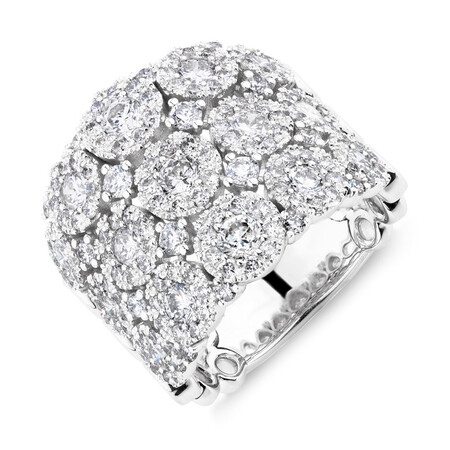 Bubble Ring with 3 Carat TW of Diamonds in 14kt White Gold