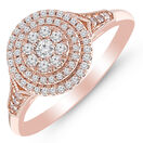 Ring with 0.33 Carat TW of Diamonds in 10kt Rose Gold
