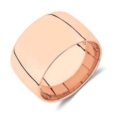 12mm Barrel Ring in 10kt Rose Gold