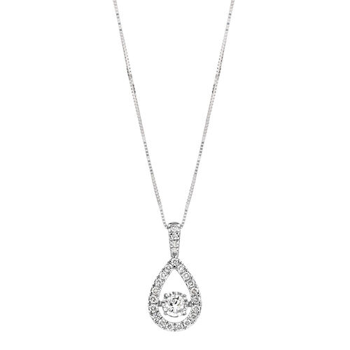 Everlight Pendant with 0.50 Carat TW of Diamonds in 14kt White Gold