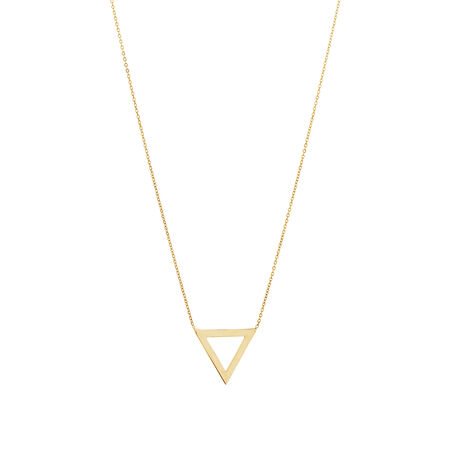 Triangle Necklace in 10kt Yellow Gold