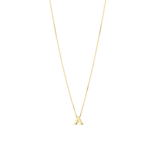 """""""A"""" Initial Necklace in 10kt Yellow Gold"""