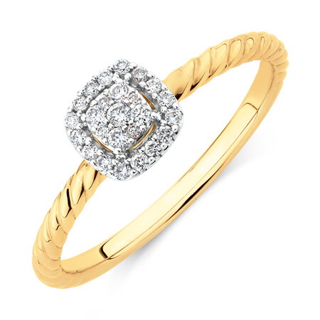 Promise Ring with 0.13 Carat TW of Diamonds in 10kt Yellow Gold