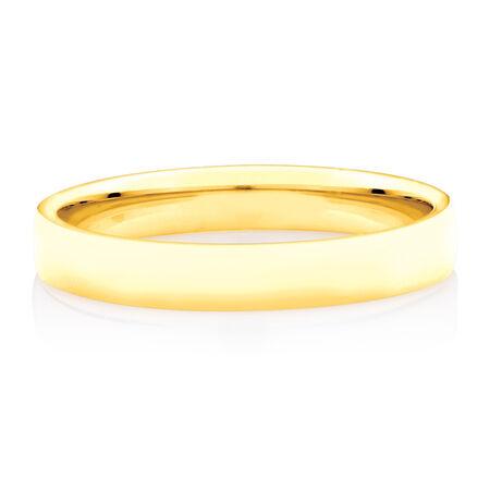 Half Round Wedding Band in 10kt Yellow Gold