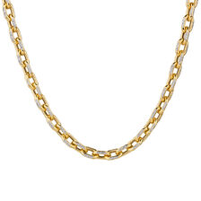 "45cm (18"") Hollow Chain in 10kt Yellow & White Gold"